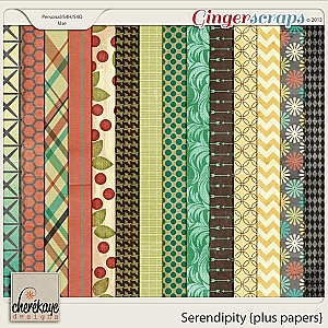 Serendipity Plus Papers by Chere Kaye Designs