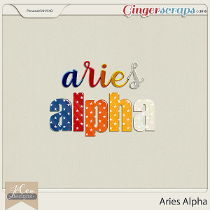 Aries Alphas by JoCee Designs
