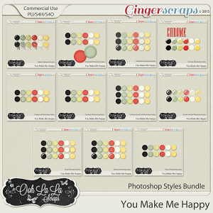 You Make Me Happy Photoshop Styles Bundle