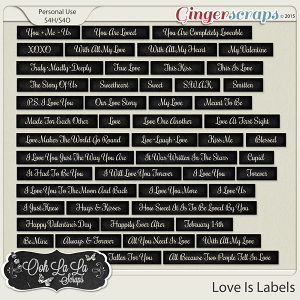 Love Is Word Labels