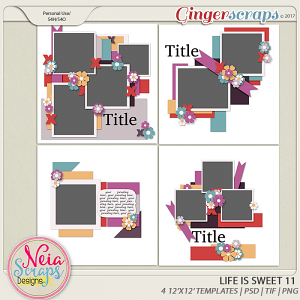 Life is Sweet 11 - Templates - By Neia Scraps
