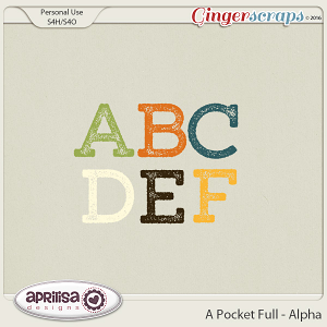 A Pocket Full - Alpha by Aprilisa Designs