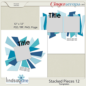 Stacked Pieces 12 Templates by Lindsay Jane