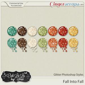 Fall Into Fall Glitter CU Photoshop Styles