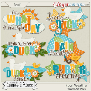 Fowl Weather - WordArt Pack