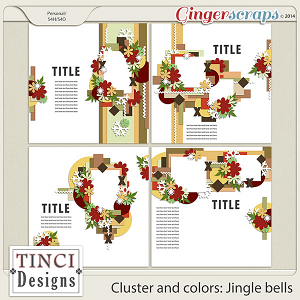Cluster and colors: Jingle bells