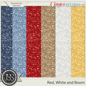 Red White and Boom Glitter Sheets