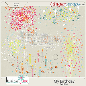 My Birthday Scatterz by Lindsay Jane