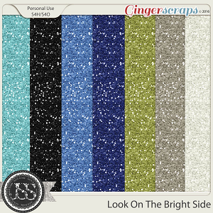 Look On The Bright Side 12x12 Glitter Papers