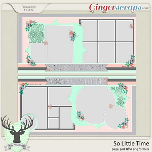 So Little Time Templates by Dear Friends Designs