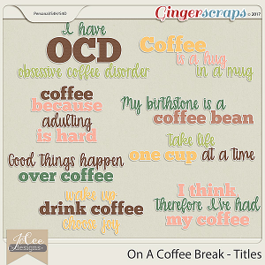 On A Coffee Break Titles
