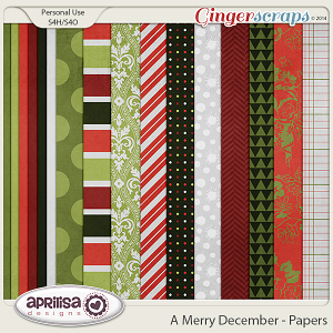 A Merry December - Papers by Aprilisa Designs