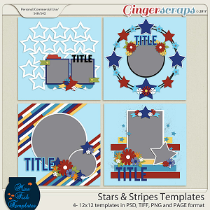 Stars & Stripes Templates by Miss Fish
