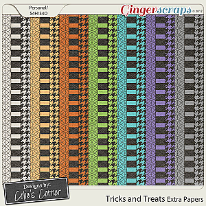 Tricks and Treats Extra Papers