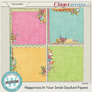 Happiness In Your Smile Stacked Papers