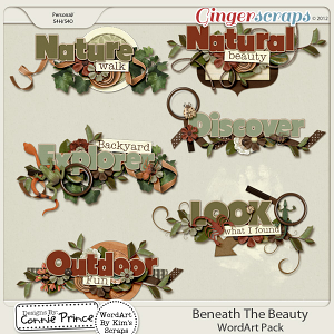 Beneath The Beauty - WordArt