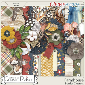 Farmhouse - Border Clusters by Connie Prince