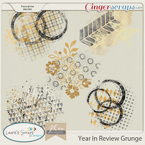 Year in Review Grunge by JoCee Designs and Laurie's' Scraps and Designs