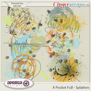 A Pocket Full - Splatters by Aprilisa Designs