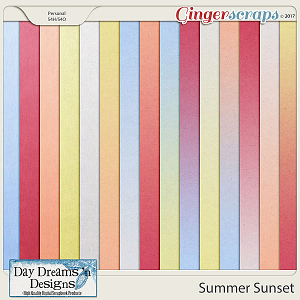 Summer Sunset {Ombre & Gradient Papers} by Day Dreams 'n Designs
