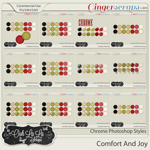 Comfort And Joy CU Photoshop Styles Bundle