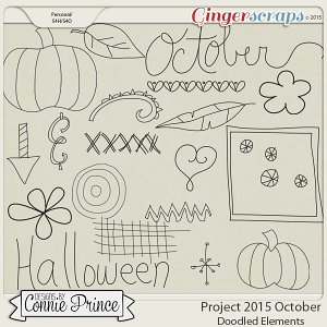 Project 2015 October - Doodled Elements
