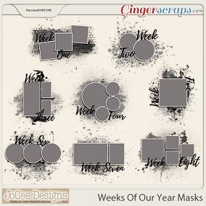 Weeks Of Our Year Masks