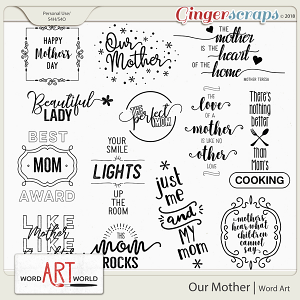 Our Mother Word Art