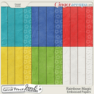Rainbow Magic - Embossed Papers