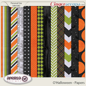 O'Halloween Papers by Aprilisa Designs