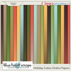 Holiday Cuties Ombre Paper Pack