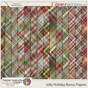 Jolly Holiday Bonus Papers by Trixie Scraps Designs