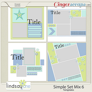 Simple Set Mix 6 Templates by Lindsay Jane