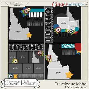 Travelogue Idaho - 12x12 Temps (CU Ok) by Connie Prince