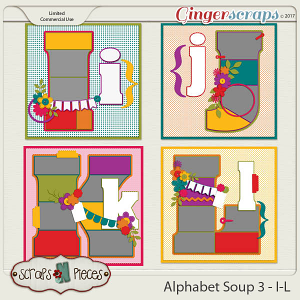 Alphabet Soup Template Pack 3 - I-L