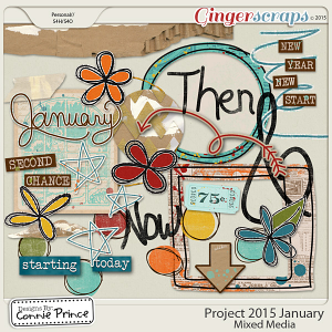Project 2015 January - Mixed Media Elements