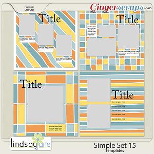 Simple Set 15 Templates by Lindsay Jane