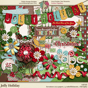 Jolly Holiday Full Kit by Trixie Scraps Designs