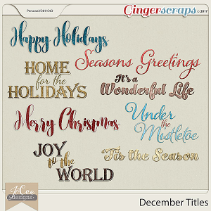 December Titles by JoCee Designs