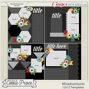 Misadventures - 12x12 Templates (CU Ok)