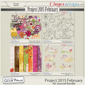 Project 2015 February - Art Journal Bundle