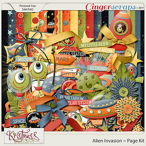 Alien Invasion Page Kit