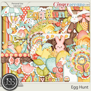 Egg Hunt Digital Scrapbook Kit
