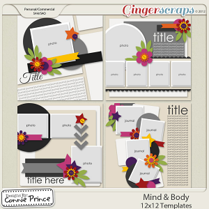 Mind & Body - 12x12 Templates (CU Ok)