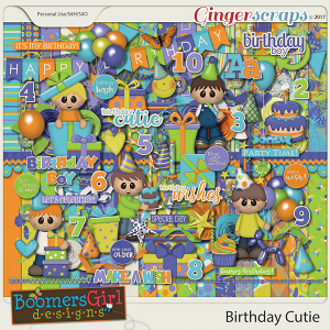 Birthday Cutie by BoomersGirl Designs