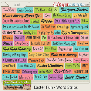 Easter Fun Word Strips by Clever Monkey Graphics