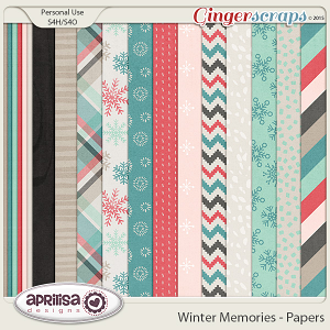 Winter Memories - Papers by Aprilisa Designs