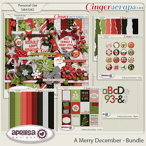 A Merry December - Bundle by Aprilisa Designs