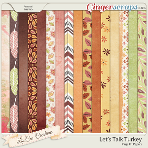 Let's Talk Turkey Page Kit Papers