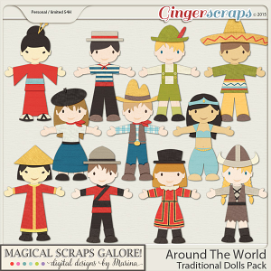 Around The World - Traditional Dolls Pack